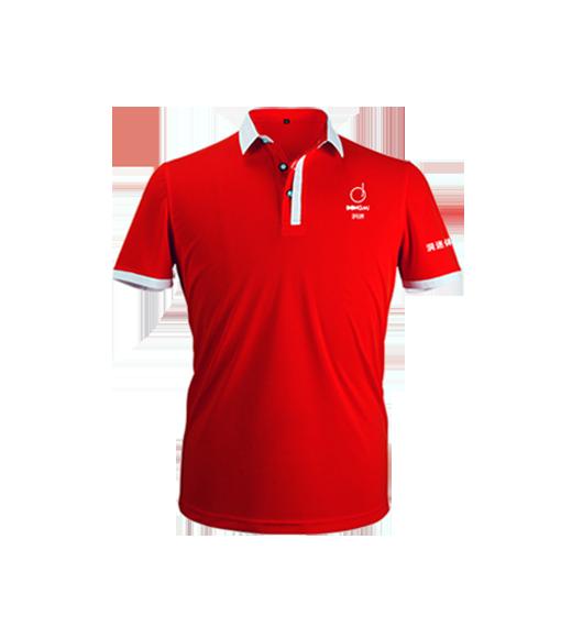 新款洞迷高尔夫服饰男士休闲运动短袖 DMFS002-BE 红色