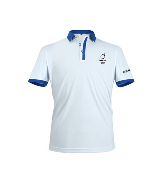 新款洞迷高尔夫服饰男士休闲运动短袖 DMFS002-BD 白色