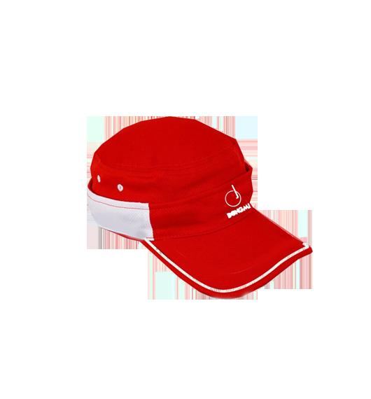 洞迷高尔夫球帽防晒遮阳个性两用无顶帽有顶帽红色DMM002-B