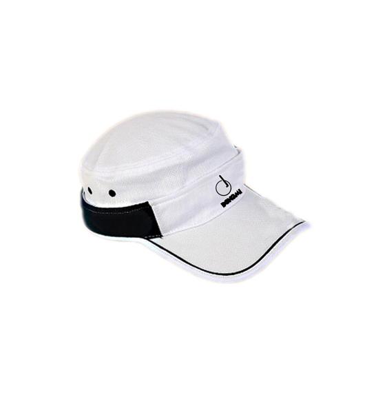 洞迷高尔夫球帽防晒遮阳个性两用 无顶帽 有顶帽 白色DMM002-A